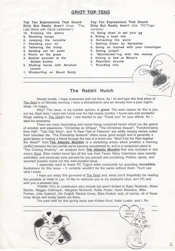Spring 1995 - Page 3 The Griot - Spring 1995 Pinterest Spring - warehouse packer resume