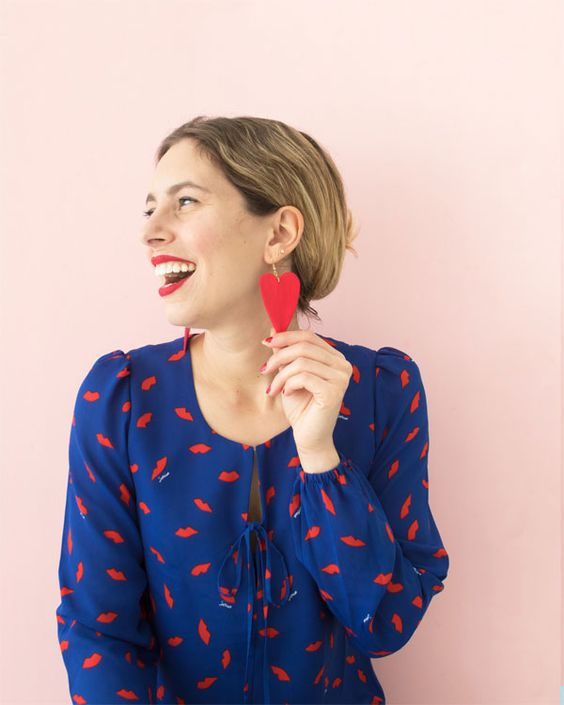 DIY Statement Earrings   Oh Happy Day!