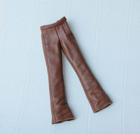 Braune Lederhose für Blythe Puppe Kleidung Licca Outfit Pure Neemo Leder Hose…