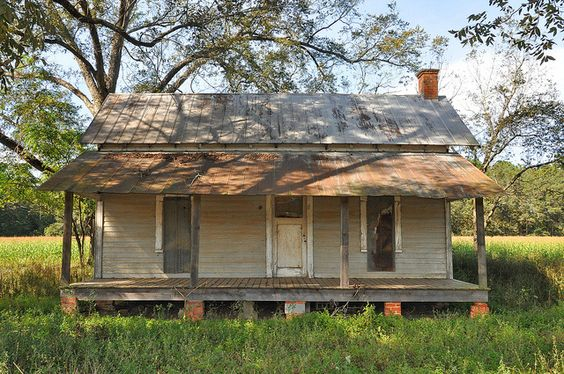 Berrien County GA Clapboard Farmhouse Vernacular Architecture Early 20th Century Picture Image Photograph Copyright © Brian Brown Vanishing ...
