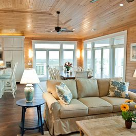 Knotty Pine With White Trim Design Ideas, Pictures, Remodel, and Decor