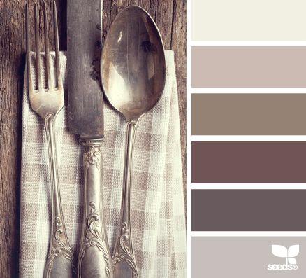 Rustic tones by design seeds vintage cutlery brown tones - Couleur taupe violine ...