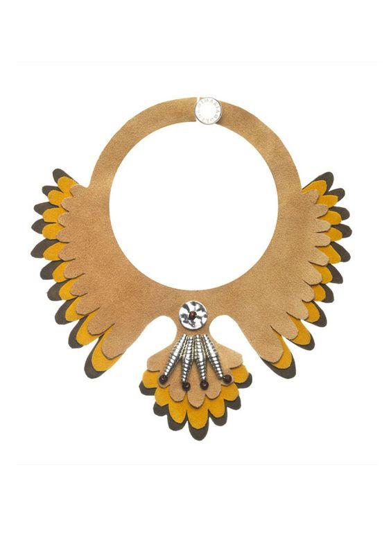 Hopi_Collar-Piel_Pajaro