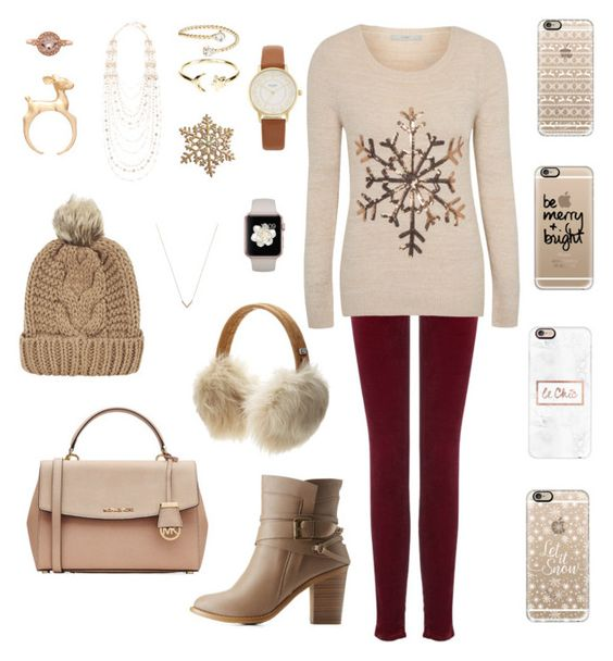 """""""Untitled #61"""" by mikayla-kat on Polyvore featuring Bony Levy, BCBGMAXAZRIA, Casetify, UGG Australia, AG Adriano Goldschmied, George, Chicnova Fashion, Charlotte Russe, MICHAEL Michael Kors and Monsoon"""