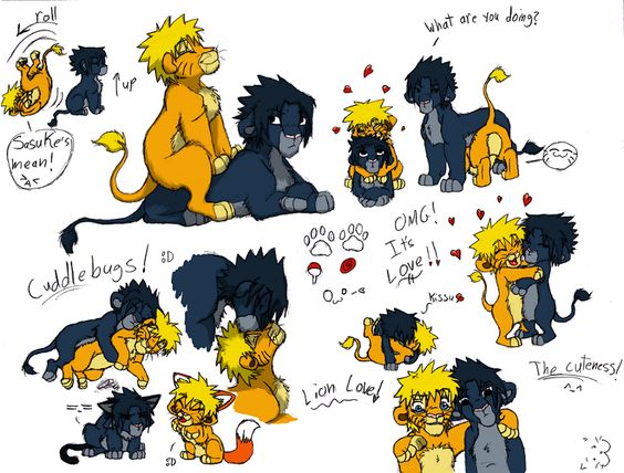 Sasunaru lion comic yay by clawshawt on deviantart