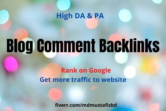Mdmustafizbd I Will Make 100 Blog Comment Backlinks Manually For Website Seo For 10 On Fiverr Com In 2020 Seo Website Backlinks Book Design Layout
