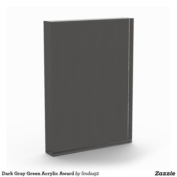 Dark Gray Green Acrylic Award