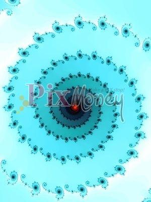 Turquoise fractal spiral photostock pixmoney