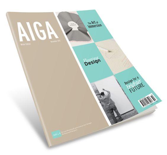 AIGA Magazine Mock-Up on Behance