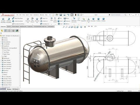 Solidworks Tutorial Design Of Tank Youtube In 2020 Solidworks Tutorial Mechanical Design Solidworks