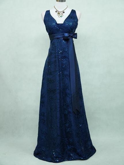 Cherlone Satin Dark Blue Sparkle Ball Prom Wedding/Evening Bridesmaid Gown Dress #Cherlone #Ballgown #Formal