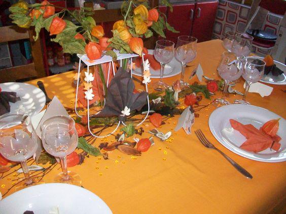 CENTRE DE TABLE AVEC DES PHYSALIS  MES DECORATIONS DE TABLE ...