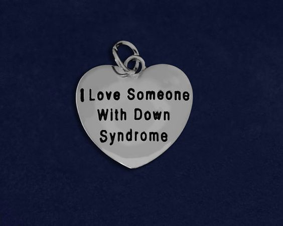 """""""I love someone with Down syndrome"""" Awareness Charm"""