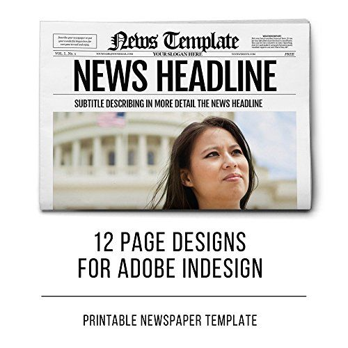 InDesign Newspaper Template 12 Pages by Templates on - online newspaper template