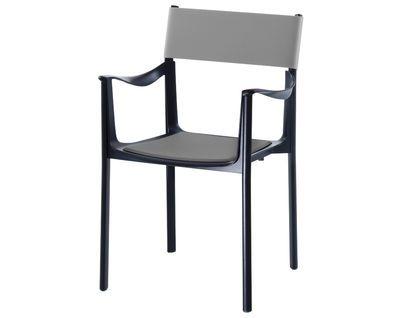 Venice Stapelbarer Sessel Gestell schwarz – Rückenlehne Kautschuk – Magis