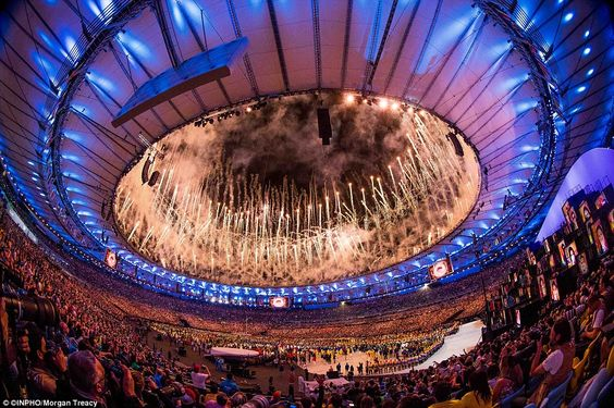 The Rio Olympic Games Opening Ceremony, at Maracana Stadium, came to a close with a spectacular fireworks display