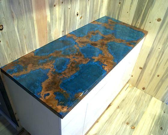 Resin Countertop Diy Outstanding Epoxy Resin Epoxy Resin S Diy Resin Countertop Ideas Copper Countertops Resin Countertops Copper Backsplash
