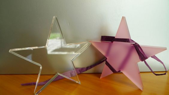 Sterne   ♪ ♫ ♪  Glücks-Stern II  In Pastellfarben von PAULSBECK Buchstaben, Dekoration & Geschenke auf DaWanda.com