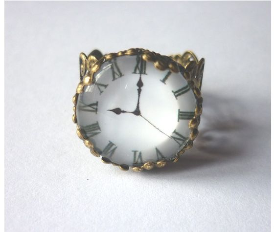 Steampunk Clock Victorian Ring