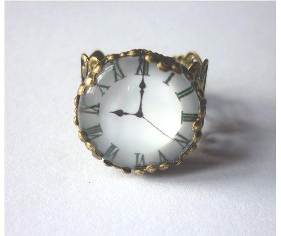 Steampunk Clock Victorian Ring