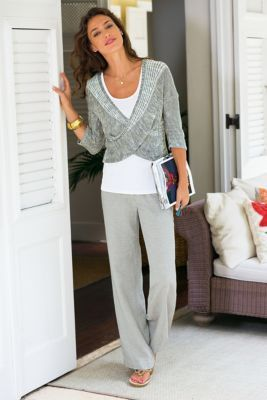 grey linen pants for women - Pi Pants
