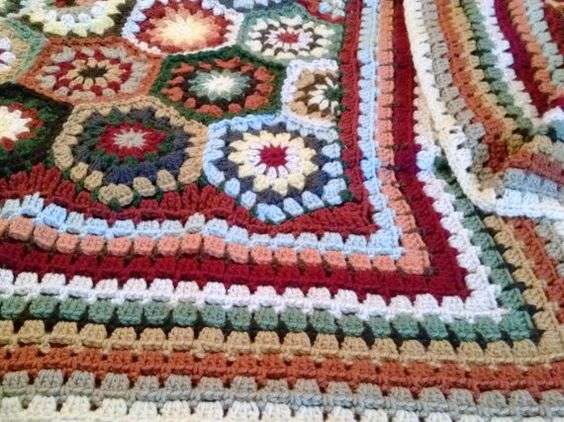 Full Sizecrochet Hexagon Blanketcrochet Hexagon Afghancrochet