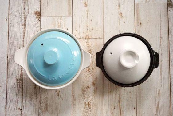 ダイソーの200円の土鍋 右 直径17cm と比較 土鍋 ダイソー 便利グッズ