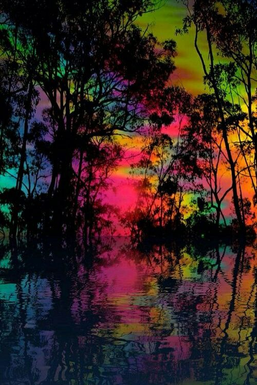 Imagen de colors, tree, and wallpaper