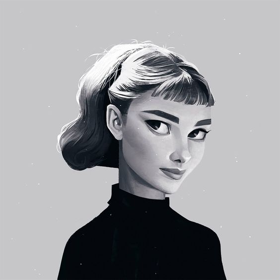 Beautiful Illustrated Portraits by Janice Sung – Inspiration Grid | Design Inspiration