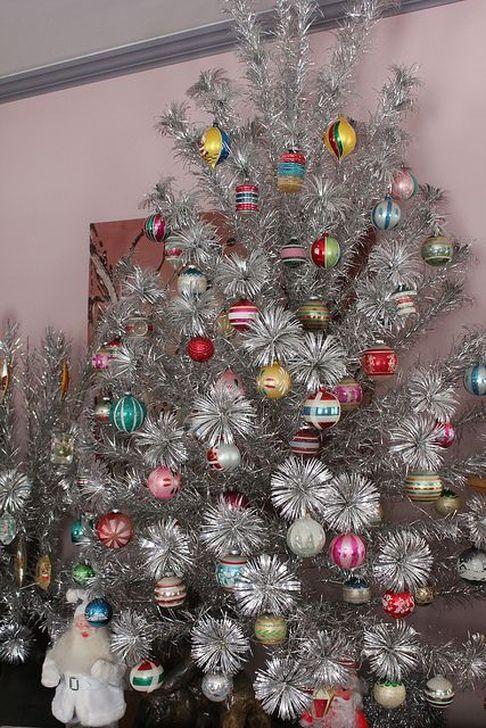 Beautiful Vintage Christmas Decoration Ideas Arbre De Noel Argent Noel Argente Photos Vintages De Noel