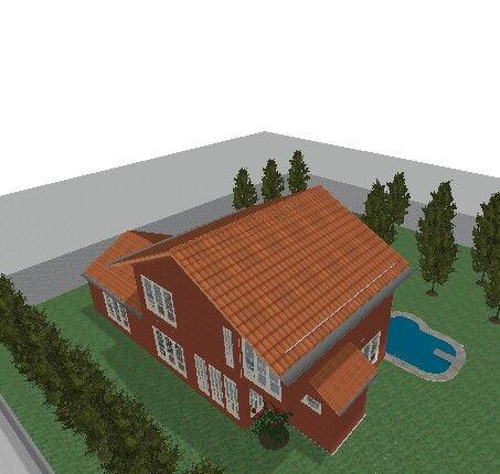CASA 1 ... casa estilo americano. Parte lateral/traseira. Projeto Jessica Cristina
