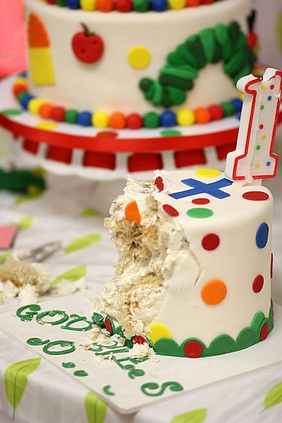 The Hungry Caterpillar Smash Cake