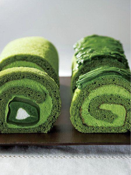 Uji maccha rolled cake of Higashiyama saryo