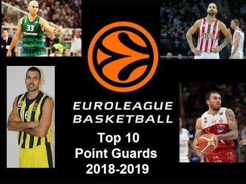 Top 10 Euroleague Point Guards Youtube Basketball Videos Youtube Guard