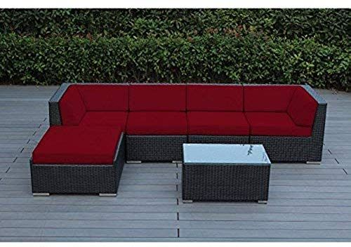 Chic Ohana 6 Piece Outdoor Patio Furniture Sectional Conversation