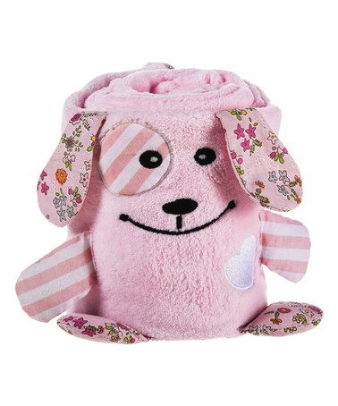 Another great find on #zulily! 23'' x 35'' Pink Puppy Roll-Up Blanket by Blossoms & Buds #zulilyfinds