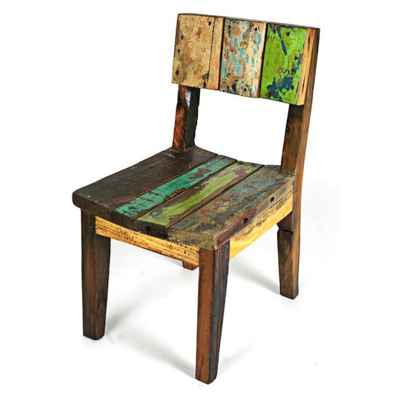 reclaimed wood children's chair
