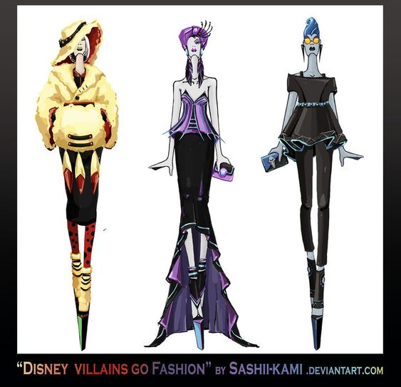 disney villians go high fashion