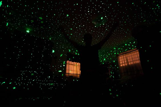 Fill a whole room with glow in the dark stars: AWESOME.