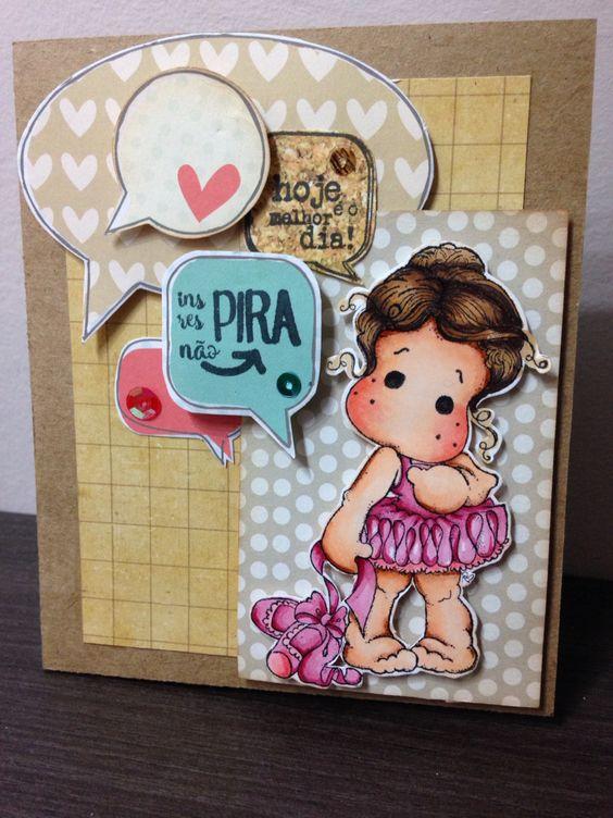 Cartão com Magnolia: