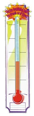 """Goal-Setting Thermometer Banner - perfect for classroom challenges or fundraising. Banner reads, """"We're working hard to reach our goal!"""" #classroom #goals $3.99"""