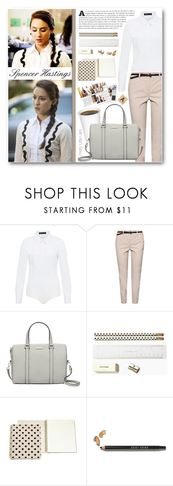 """""""Spencer"""" by becky12 ❤ liked on Polyvore featuring Hallhuber, MANGO, Kate Spade, Bobbi Brown Cosmetics, women's clothing, women, female, woman, misses and juniors"""