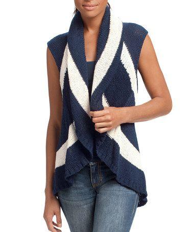 Another great find on #zulily! Navy Stripe Skipper Vest #zulilyfinds