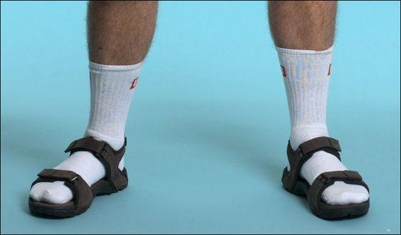 Socks with sandals... ewww!