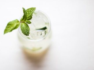 Husk Nashville's Mint Water. Photo by Andrea Behrends.