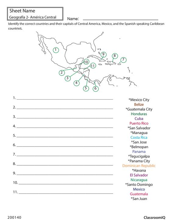 identify countries and capitals spanishworksheet newteachers printable spanish worksheets. Black Bedroom Furniture Sets. Home Design Ideas