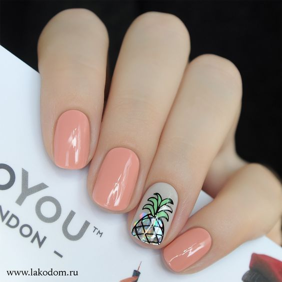 114 Easy Cute Bright Summer Nail Designs 2019 Koees Blog Pineapple Nails Bright Summer Nails Designs Stylish Nails Designs