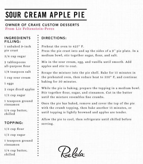 Sour Cream Apple Pie | baking | Pinterest | Apple Pies, Pies and Sour ...