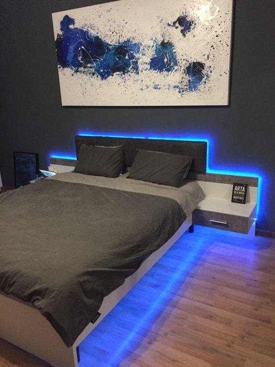smart strip lights boy bedroom design