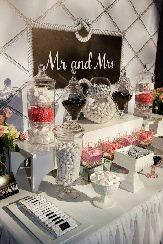 Une déco Mr et Mrs pour le Candy Bar